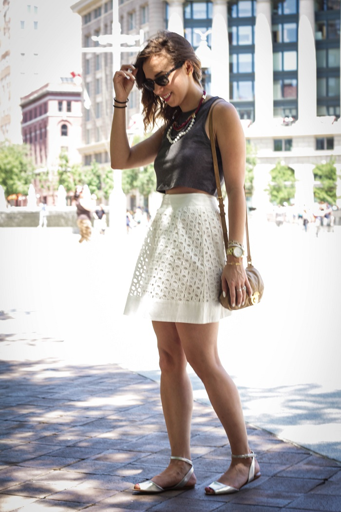va darling. dc blogger. virginia personal style blogger. virginia blogger. white eyelet skirt. crop top. 4th of july style. dc fourth. casual summer style. 2