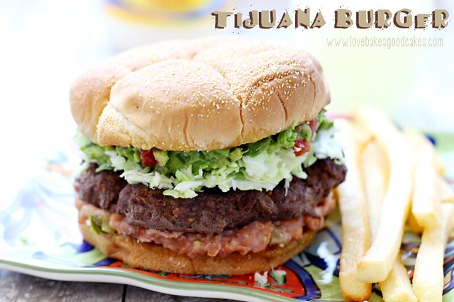 Take your taste buds South of the border with this Tijuana Burger! #burgervention #beef #grilling