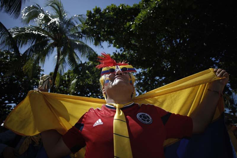 (4)BRASIL-FORTALEZA-COLOMBIA-MUNDIAL 2014-AFICIONADOS