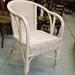 White cane armchair €35