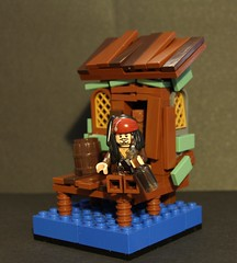 Jack Sparrow and a bottle of rum
