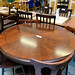 Ornate Mahogany circular dining table