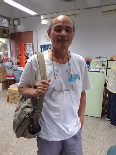 桃園在地聯盟潘忠政老師。攝影:台灣環境資訊協會
