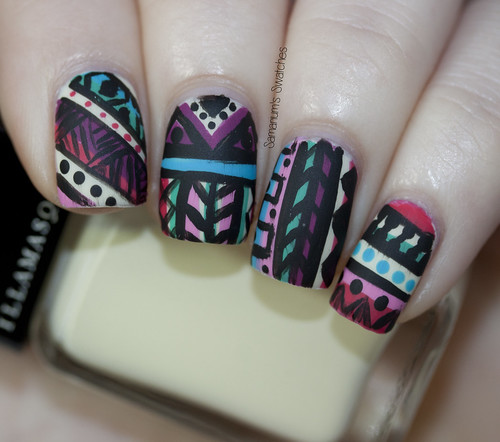 Tribal Nail Art Matte