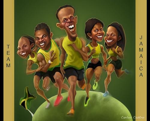 Team Jamaica by Carlos Castro Pérez
