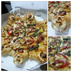 Crown pocket bacon steak pizza of #Pizza Hut Korea…