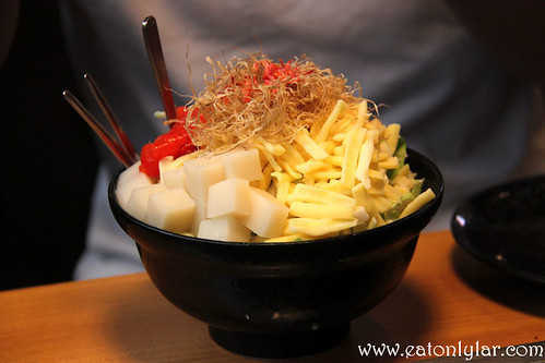 Mentaiko Mochi Cheese Monja, Monja Oshio