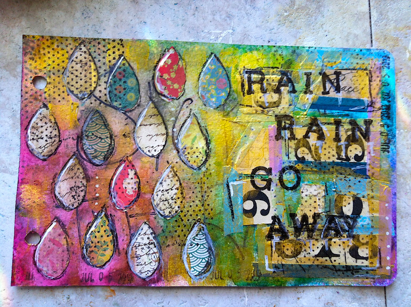 art journal pages - July 2013