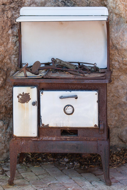 Abandoned Stove in the Desert