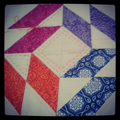 More successful hand quilting with Lu (and new perle) #fqrlondon