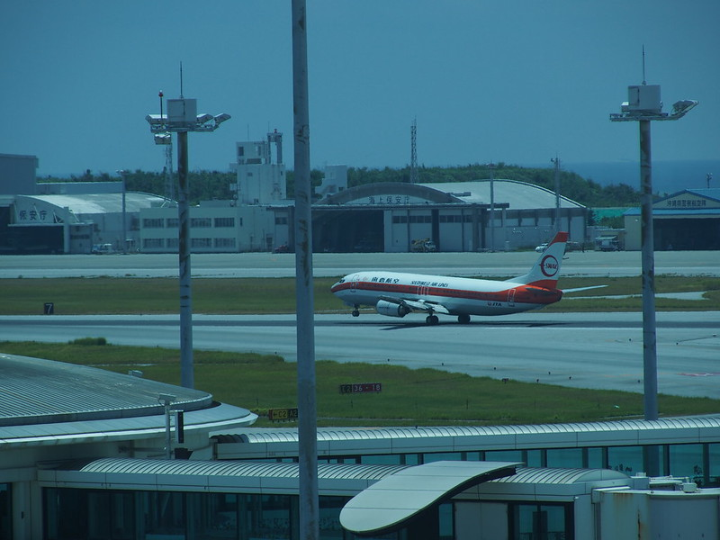 Naha AP, JTA Southwest Air Lines Special Color Scheme. 那覇空港、JTA 南西航空特別塗装機