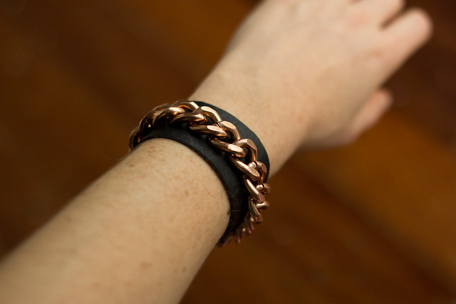 Chain leather cuff (5 of 7)