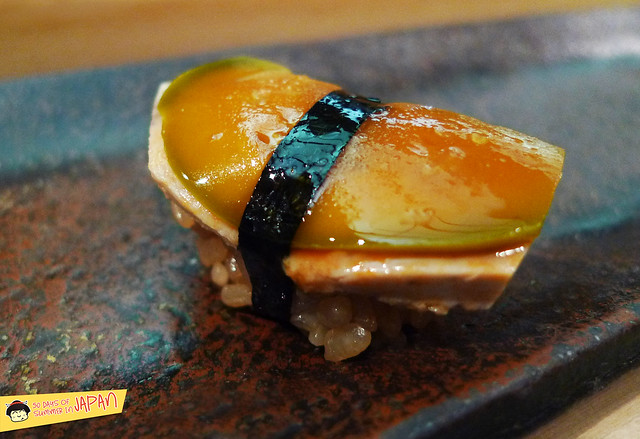 Sushi Sho - Tokyo - Ankimo. Monk fish liver