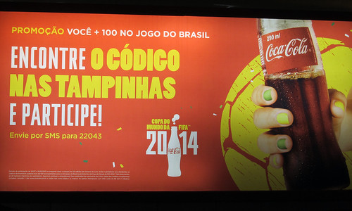 Go with 100 friends to Fifa World Cup 2014 Matches Backlit Coca-Cola Promo 2 Brazil 2013 by roitberg