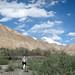 Audrey Hikes through Valley on Way to Markha - Ladakh, India