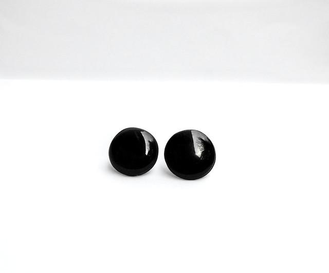 orecchini a perno l nero
