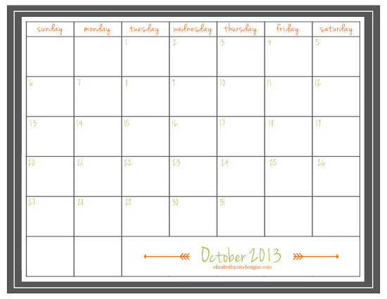 October 2013 Printables 3