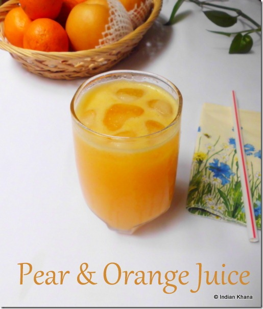 Pear Orange Juice