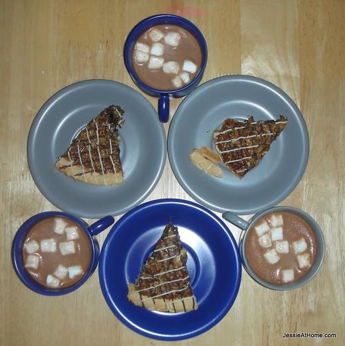 Choczilla-nut-pie-and-Mexacan-Hot-Chocolate
