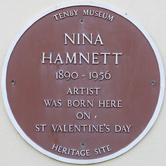 Photo of Nina Hamnett brown plaque