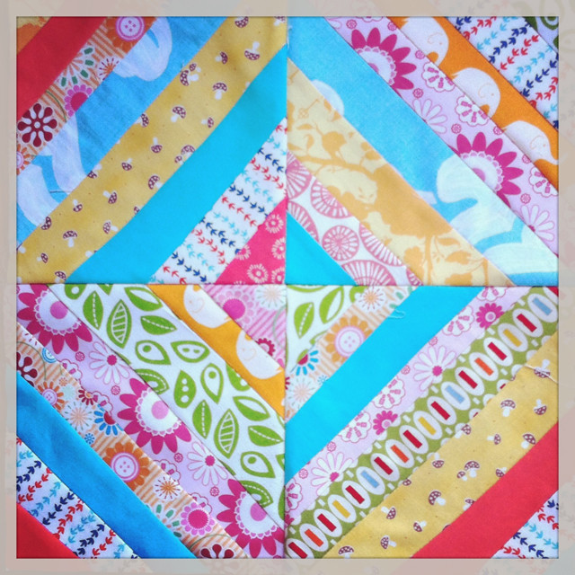 Sewing for all Seasons picnic string block!