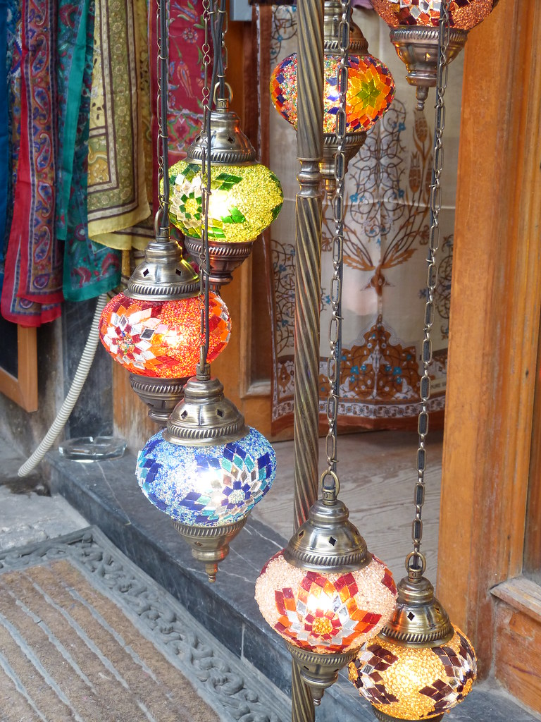 Mosaic Lamps in Arasta Bazaar, Istanbul
