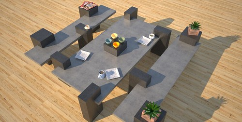 Modern concrete patio furniture, concept design and production by 108.167.189.34