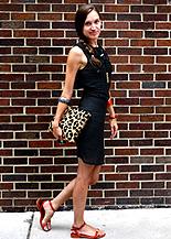 leopard print love cortnie clutch