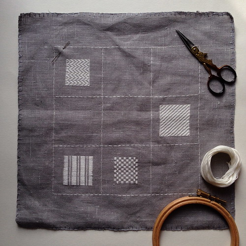 Pattern Darning Sampler - WIP