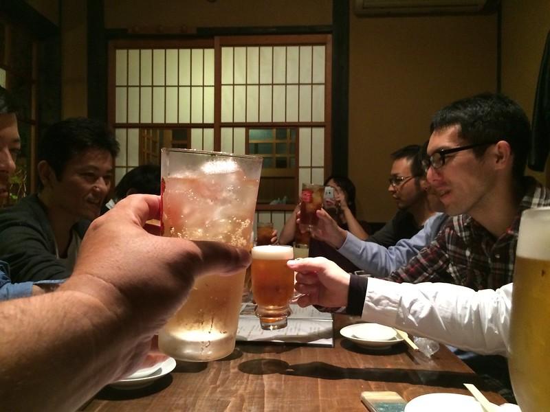 乾杯!! 残念ながらアルコールはナシ。。