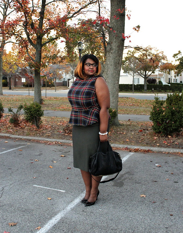 the+style+climber+peplum+plaid+pencil+skirt
