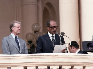 Carter and Sadat in Cairo, March 8, 1979