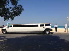 Hummer Limousine at the Beach