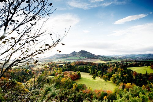 The Eildons, From Scott's View, Autumn 2013, Scottish Borders