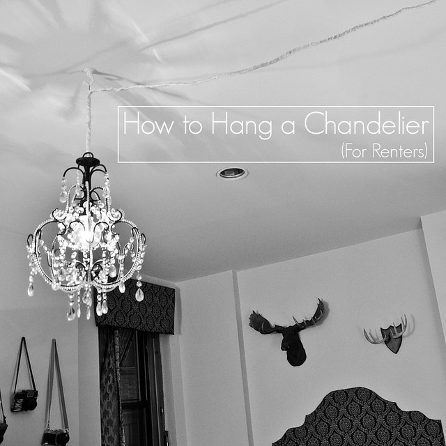 How to hang a chandelier for renters stars for streetlights aloadofball Gallery