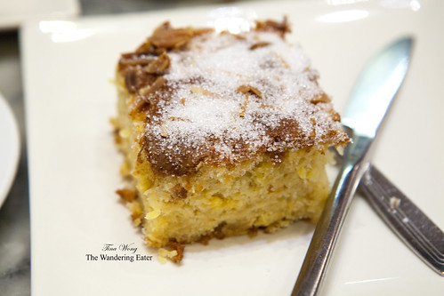 Orange almond cake coated in sugar