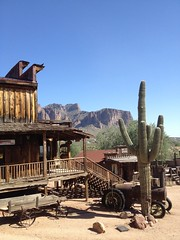 A view of the Superstition Mountain