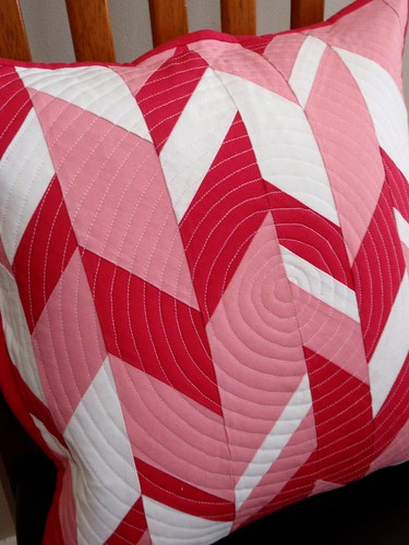 Haphazard Chevron Quilted Cushion