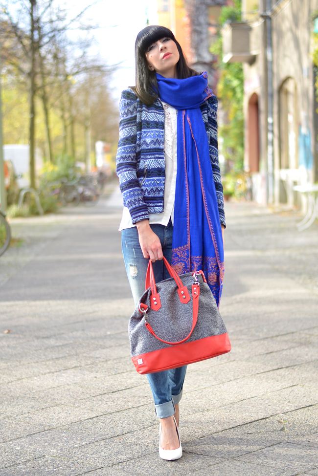 Kashmir Shawl Atelier Jahn For Jahn Sojeans Outfit CATS & DOGS fashion blog Berlin 2