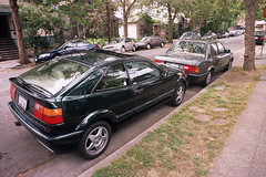 VW Corrado, 1993, VR6, at curb, from righ rear.