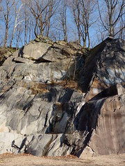 Rock formation in Alapocas Run State Park