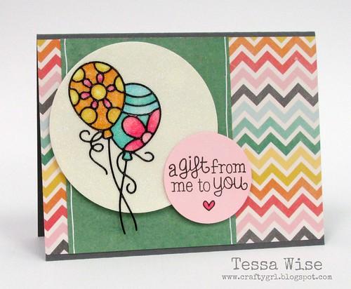 Glitter Balloons Card 1