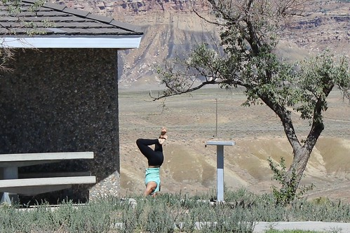 IMG_2347a_Girl_Doing_Yoga_at_Horse_Canyon_Rest_Area_on_US6_in_Utah