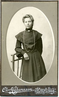 CDV Portrait of a young woman - Sweden - c.1900