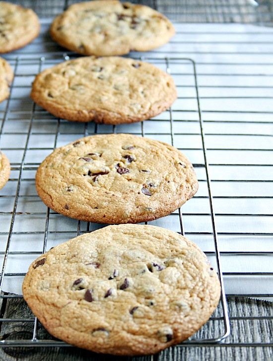 Doublelayer Chocolate chip peanut butter cup cookies