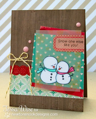 Lovely Snowmen Card 1