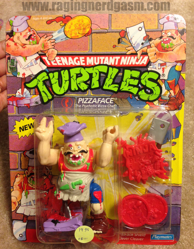 Vintage TMNT Teenage Mutant Ninja Turtle Carded Pizzaface