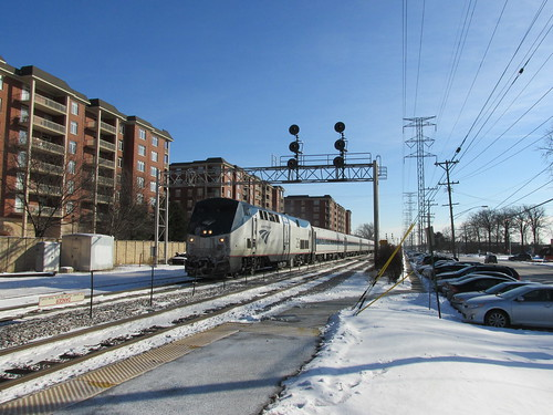 Northbound Amtrak Hiawatha enroute to Milwaukee Wisconsin.  Morton Grove Illinois.  Thursday, December 12th, 2013. by Eddie from Chicago