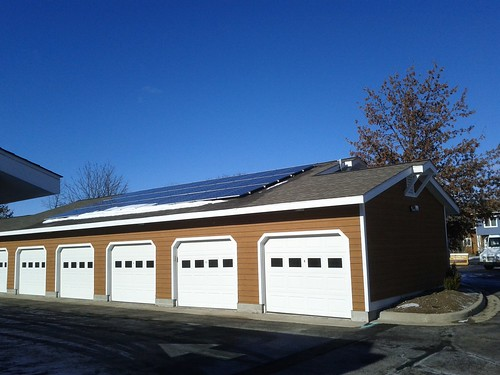 GO South facing Garage Bank solar panels
