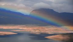 Rainbow through Roosevelt Lake, Arizona